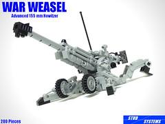 レゴ ウォーウィーゼル先進155mm榴弾砲(LEGO War Weasel Advanced 155 mm Howitzer) (popo lego) Tags: lego moc military army howitzer artillery 155mm レゴ 榴弾砲