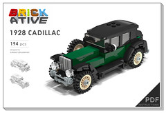 CADILLAC (agata_pakita) Tags: town lego modular buidling city instructions custom