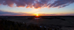 Sunset mood (Joni Mansikka) Tags: nature spring outdoor sunset colours panorama landscape sky clouds fields woodland trees paimio suomi suomi100 finland finland100