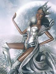 Galaxy (dddDolls) Tags: the mattel goddess galaxy inspired by pop icon fr aa intigity toy doll fantasy dark le smokin adele fr2 barbie dolls photoshop