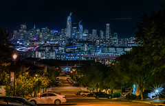 victoria mews after hours (pbo31) Tags: sanfrancisco california nikon d810 color april 2017 spring boury pbo31 city urban night black dark victoriamews potrerohill skyline salesforce construction view over lightstream motion traffic roadway infinity texasstreet 280