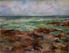 Rocas y Mar (benilder) Tags: rocks sea mar mer roches rocas texturas watercolor watercolour aquarelle acuarela benilde
