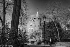 Spring 2017 - Kensington-2.jpg (Colin Dorey) Tags: williamburges 187678 frenchgothic tower towerhouse bw blackwhite monochrome blackandwhite hollandpark kensington rbkc kensingtonchelsea london w8 uk melburyroad architecture