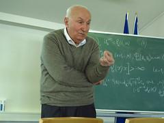 Vano Kiguradze [IMG_0258p] (Milan Tvrdý) Tags: czechgeorgianworkshoponboundaryvalueproblems mathematics imcas