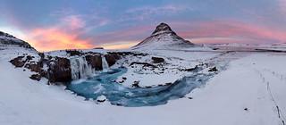 Stunning Sunset, Kirkjufell Mountain (Witches Hat), Iceland
