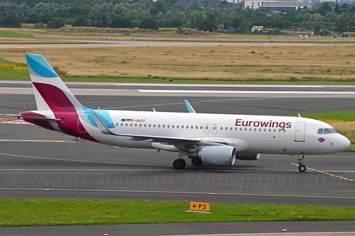 Eurowings D-AIZT Airbus A320-214 Sharklets cn/5601 @ EDDL / DUS 27-06-2016