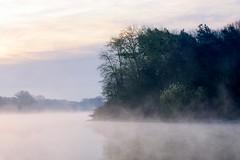 Stausee Hullern im Frühnebel (webpinsel) Tags: frühling halternamsee hullern landschaft mogensonne morgenstimmung natur see sonnenaufgang stausee