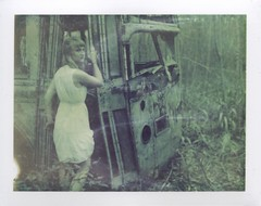 Give up the Ghost (Ca$hreno) Tags: film polaroid polaroid195 expiredfilm abandoned instantfilm photoshoot strange dark erie derelict artistic portrait bus abandonedbus cashreno beauty ghostly polaroid669 analog portraiture lovely girlsonfilm filmphotography dream lost intothewild dreamy alone wild