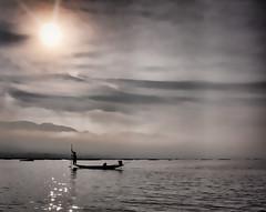 An early morning fisherman on Inle Lake (Neville Wootton Photography) Tags: boats burma fishermen holidays inlelake lakescapes lightroom longboats myanmar onestoptraveltours sunrises topazlabs