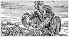 """""""My life. My choices. My problems. My mistakes. My lessons. Not your business."""" (Ramalakshmi Rajan) Tags: people blackandwhite blackwhite bw portrait potraits tamilnadu india indians woman indianwoman nikond5000 18140 nikkor18140mm streetphotography streetvendors"""