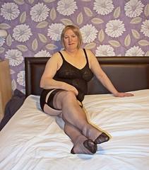 Black Nylons (Jenny Gloria Williams) Tags: nylons stockings sheer suspenders crossdressing crossdresser crossdressed crossdress corset corselette transvestie transgendered tg tranny transvestite trannie tranvesti bbtv rht blonde