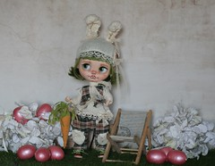 full custom Blythe factory doll by me, Heliantas, #4/2017: Miss Bunny