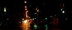 Rainy night panorama on film (mkk707) Tags: leicar3 leitzsummicronr90 kodakektar100 nightshot nightonearth rain leica filmcamera 35mmfilm vintagelens vintagefilmcamera germancameras city itsaleica reflections lights