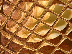 rêve de lumière III - Dream of Light III (Emmanuelle Baudry - Em'Art) Tags: art artwork abstract artsurreal artnumérique abstrait artfantasy digitalart dream rêve orange or gold desert emmanuellebaudry emart carré carreaux squared square
