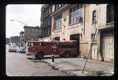 "20170406-throwback-thurs-1972-0013 (Official New York City Fire Department (FDNY)) Tags: fdny fire firefighting 1970s vintage ""throwback thursday"" tbt ""fire engine"" truck"" water nyc ladder truck ""new york city"" building suppression"" firefighter rescue smoke flames bronx"