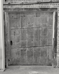 Cool old door at the old train depot in Chickasha, Oklahoma (kevinellison62) Tags: blackwhite architecture chickasha oklahoma doors