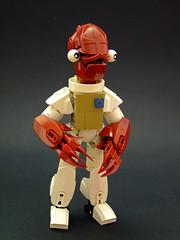 Admiral Ackbar (Djokson) Tags: star wars admiral ackbar mon calamari alien creature dark red white itsatrap