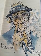 It's only rock n' roll  ! #sketch #music #rocknroll #rollingstones #keithrichards (dege.guerin) Tags: rocknroll rollingstones music sketch