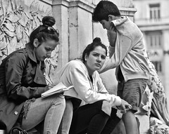 25 April 2017 - Taking notes about the Demonstration (pedrosimoes7) Tags: photojournalism 25deabril fotoclube writing escritor blackwhitepassionaward