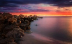 Life (Anto Camacho) Tags: valencia elperelló longexposure bigstopper clouds rocks sunrise sunshine nature ligthouse landscape mediterraneo spain waterscape sand seashore