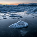 Sunset at the Glacier Lagoon - Iceland - Travel photography