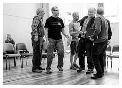 Rehearsal -8 (alh1) Tags: allanharris centralmethodistchurchhall niksilverefexpro pilottheatre thesuffragetteproject yorktheatreroyal readthroughrehearsal eipyork 08042017 bw england northyorkshire york actors choice monochrome