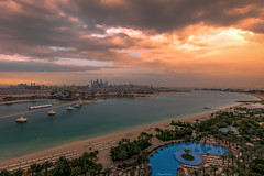 I loved the view from my hotel window (Margarita Genkova) Tags: atlantis thepalm dubai beach shore palmtrees landscape travelphotography sea skyline train clouds beautiful