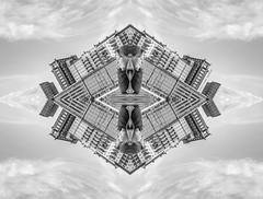 """My hometown"" (swedeshutter) Tags: abstract reflection gothenburg sweden göteborg flicka kvinna ansikte female women face clouds panasonic g80 1260 art resting distored world"