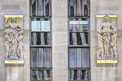 "NYC - Rockefeller Center - ""Aspects of Mankind"", Gaston Lachaise, 1935 (David Pirmann) Tags: newyorkcity rockefellercenter 30rock gastonlachaise artdeco basrelief sculpture facade architecture windows art nyc"