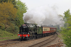 Scot at Southcote (Treflyn) Tags: scot rebuilt stanier 460 46100 royalscot southcote junction reading london victoria minehead cathedralsexpress charter