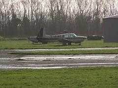 G-BIWR (IndiaEcho Photography) Tags: gbiwr mooney m20 bourne bourn cambridgeshire england civil airport airfield aviation aircraft aeroplane egsn