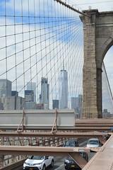 bridge to freedom; (sean_o_connire) Tags: brooklyn bridge freedom tower world trade centre wtc new york city