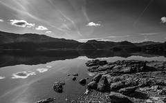 Still - Derwent Water (99damo) Tags: reflections lakedistrict borrowdale cumbria cloud derwentwater d810 fells gravel rocks shore