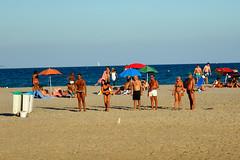 beach boys (and girls) (Stefano E) Tags: poetto cagliari color italy spiaggia italia sardegna sardinia people candid