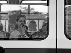 Wanted (pxlline) Tags: switzerland streetphotography zürich candid dasischzüri bw ch vbz zvv züriline tram