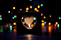 light up my heart (happy handshaker) Tags: fairy lights tea candle ornament discarded