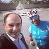 استقبال الصديق ليندوس ضو في #الناقورة دعماً لنشاط الرياضة البيئية التي أطلقته جامعة الروح القدس #الكسليك، بهدف ربط كافة فروعها بواسطة التنقل على الدراجات الهوائية   #يوسف_صفير  Welcoming my friend Lindos Daou at #Naqoura in support of #USEK Cycling Tour 2