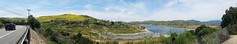 The Return of Irvine Lake (EmperorNorton47) Tags: irvinelake irvine california photo digital spring meadows lake fence foothills panorama