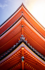 Kyoto Pagoda (That7guy) Tags: pagoda japan architecture asia kyoto red kiyomizudera temple