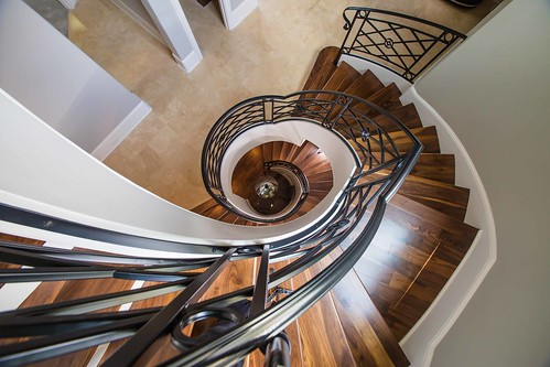 Curved Stair by Andronic's Construction Charlotte NC