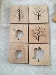 Oak Tree silhouette coasters