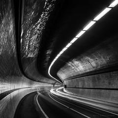 Rotherhithe Tunnel ([J Z A] Photography) Tags: longexposure bw film monochrome analog twilight cityscape dusk tunnel le nightime infrastructure 4x5 lf rodinal150 rotherhithe largeformat schneider 5x4 agfarodinal fujineopanacros100 ei80 film:brand=fuji film:iso=80 developer:brand=agfa developer:name=agfarodinal film:name=fujineopanacros100 jzaphotography superangulonxl72mm arcaswissmisura filmdev:recipe=9603 jzaprint