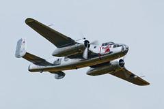 North American B-25J Mitchell - 12 (NickJ 1972) Tags: museum day aviation duxford practice mitchell redbull flyingbulls b25 2014 iwm northamerican n6123c