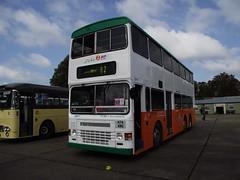 H74ANG (New World First Bus) 21-09-2014 Duxford Showbus.1 (routemaster2217) Tags: duxford imperialwarmuseum iwm showbus2014