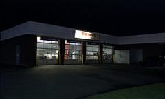 (JacobR97) Tags: film night self photography fuji superia powder 400 storefront kit developed nikonn90s xtra c41 tetenal