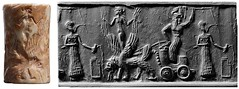 Cylinder seal and impression. Mesopotamia, Akkadian period (rowan545) Tags: ancient mesopotamia akkadian semitic