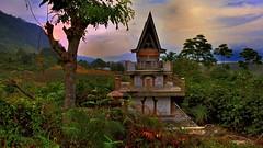 Mood before the thunderstorm, Pulau Samosir, Sumatra, Indonesia. (flowerikka) Tags: sunset sumatra indonesia tomb thunderstorm batak volcan laketoba pulausamosir
