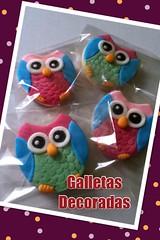 Galletas Decoradas (mildredpostres) Tags: baby flores navidad chocolate mariposas cumpleaos limon fondant galletas bautizos vainilla buhos pastillaje