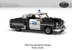 Chevrolet Bel Air Hardtop Police Cruiser - 1953 (Linotopia) (lego911) Tags: auto usa classic chevrolet hardtop belair car america model gm lego general render air police motors chevy chrome 1950s cop only six bel 83 coupe cruiser challenge lino cad 1953 lugnuts povray chev moc ldd stovebolt miniland onlyinamerica foitsop lego911 linotopia