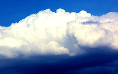 Blissful Clouds (Aozma Qureshi) Tags: blue summer white clouds puff happiness fluff bliss cumulonimbus cumulonimbuscloud yahoo:yourpictures=yourbest2014image